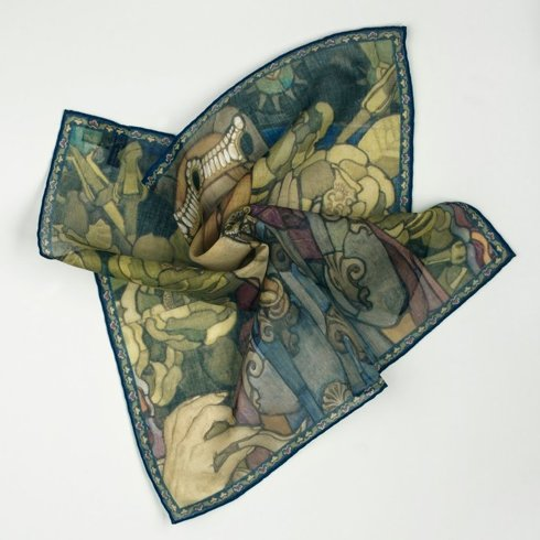 "Pocket square ""Sancta Virgo"" Józef Mehoffer"
