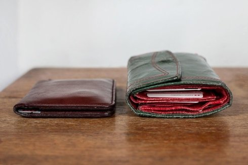 Pocket wallet with coin case