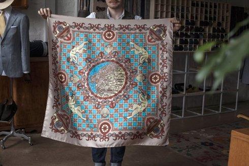 """Positano"" Silk scarf 100 cm"