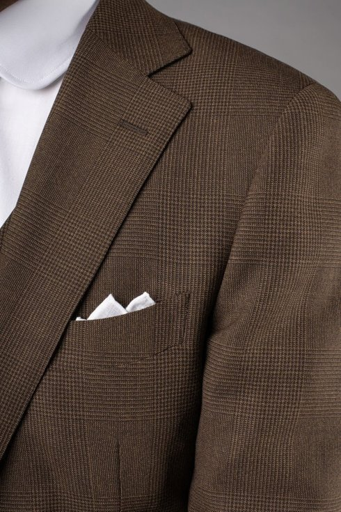 Preorder: brown check two piece suit 'Edward'