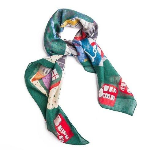 """LONDON"" Wool and Silk scarf 100 cm"
