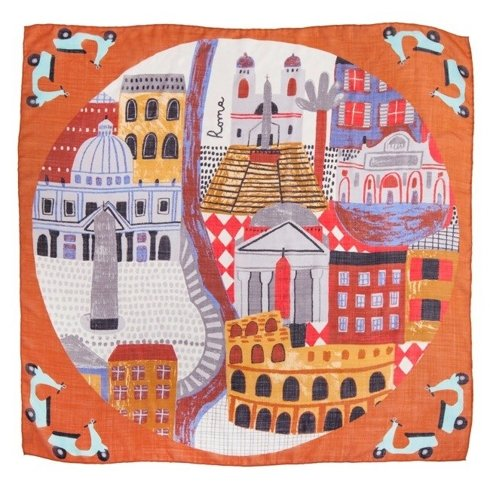 """Roma"" Wool and Silk scarf 100 cm"