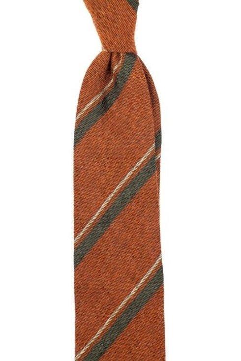 Rust red regimental tie