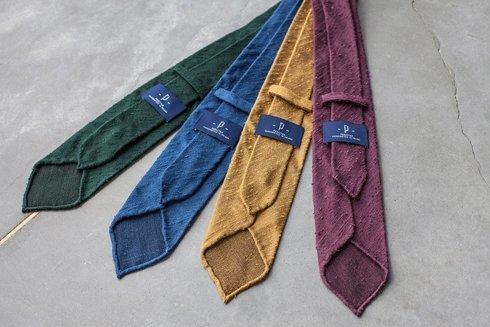 Shantung untipped herringbone tie