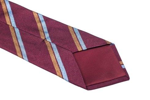 Silk Raspberry red regimental tie