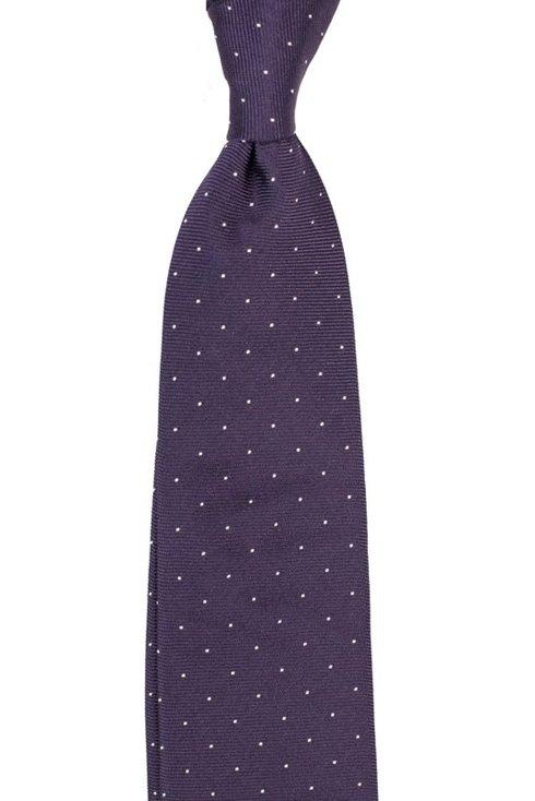Silk jacquard polka dots tie 9 cm