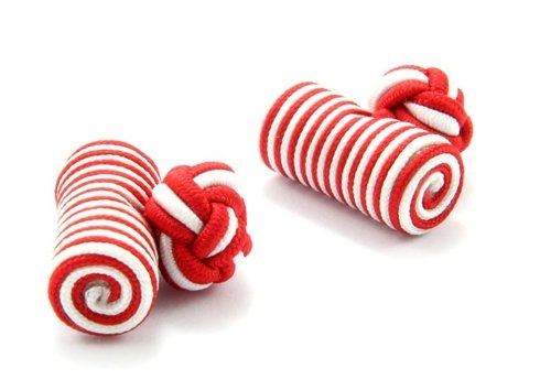Silk knots red and white