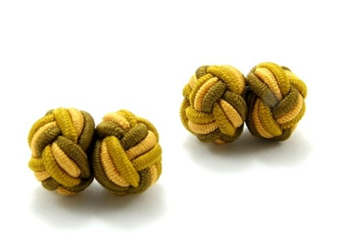 Silk knots yellow and khaki
