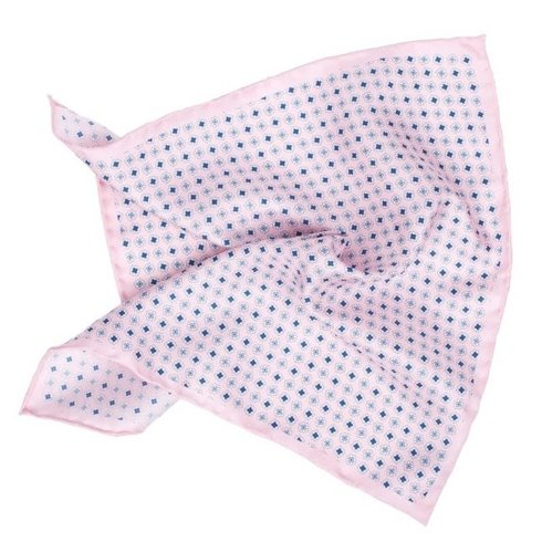 Silk pocket square with flowers