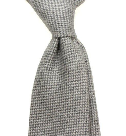 Untipped wool & cashmere tie
