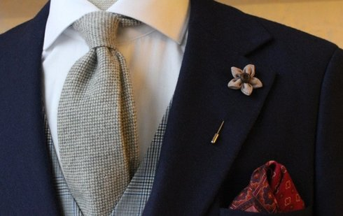 Untipped wool & cashmere tie