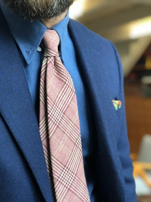 Wool, Cotton & Cashmere untipped PoW tie