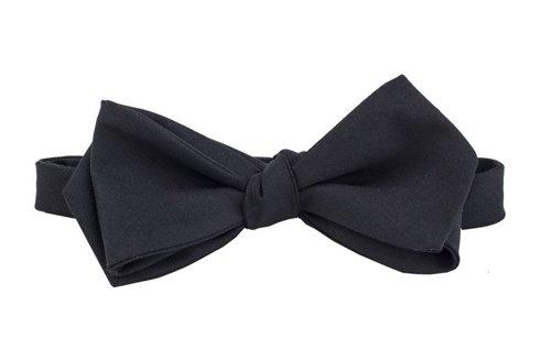 black woolen bowtie