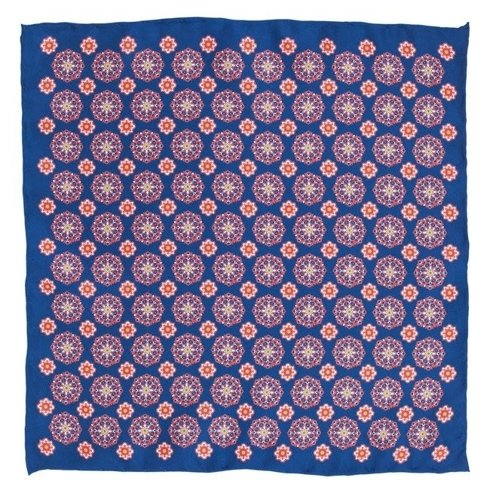 blue classic pocket square