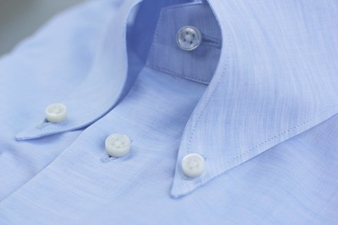 blue linen&cotton OCBD shirt