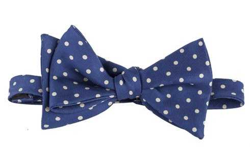 blue polka dots Macclesfield bow tie