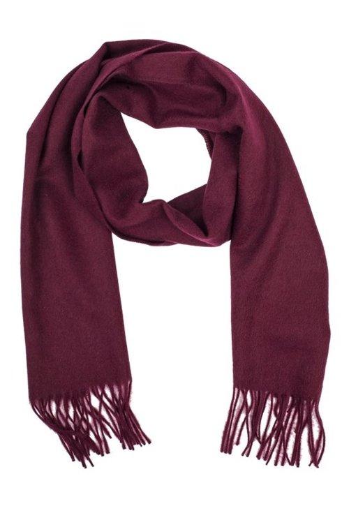 burgundy cashmere scarf