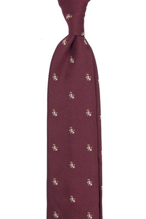 burgundy silk tie