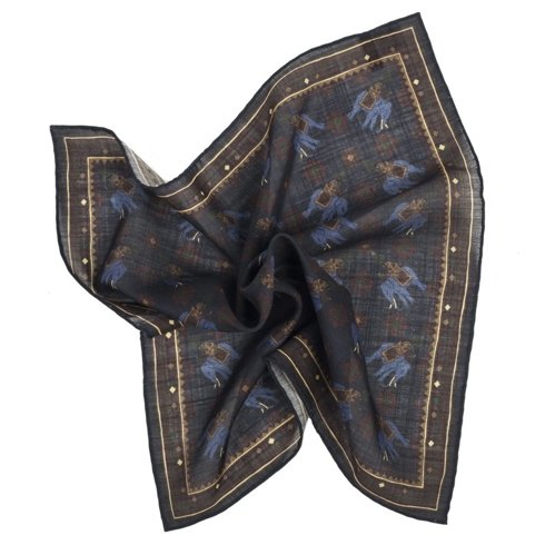 charcoal macclesfield pocket square