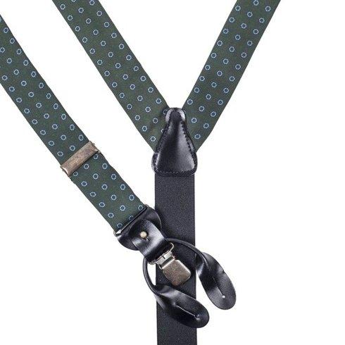 green printed silk BRACES