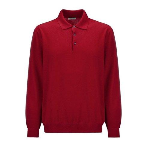 light merino wool Polo sweater