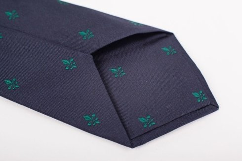 navy SIX FOLD TIE with Scout Emblem