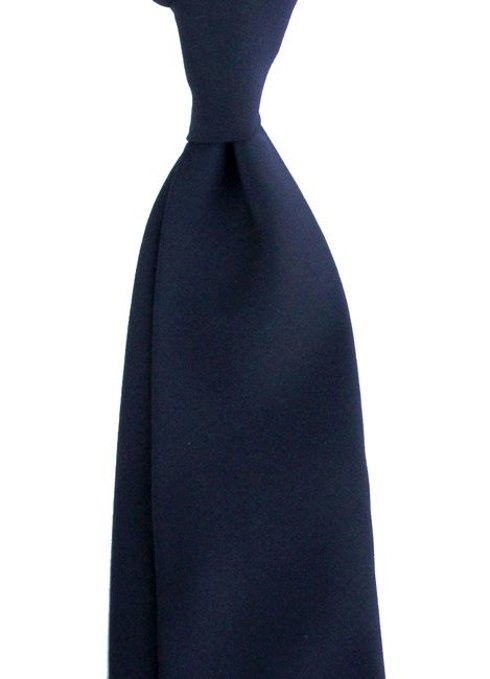 navy UNTIPPED WOOLEN  TIE