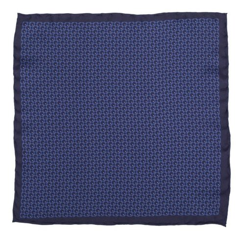 navy geometric pocket square