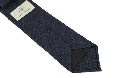 navy shantung grenadine untipped tie