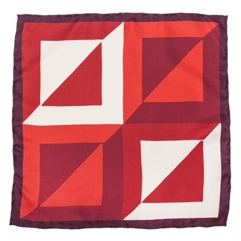 pocket square red squares