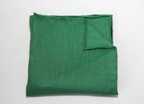 poszetka len zielona