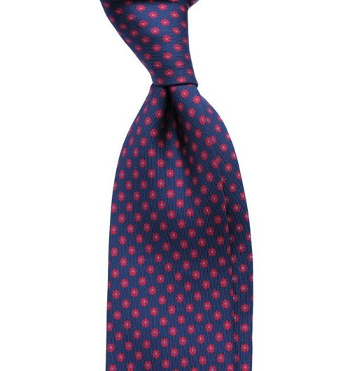 printed silk macclesfield tie