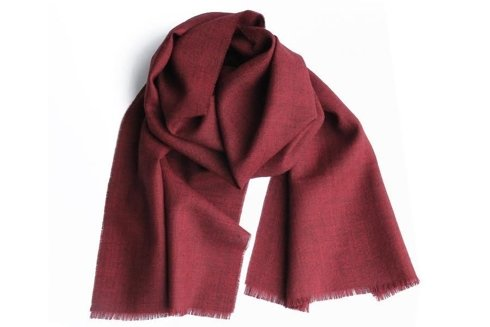 red melange cashmere scarf