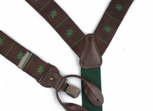 silk jacquard BRACES 3,5 CM CLIPS & BUTTONS