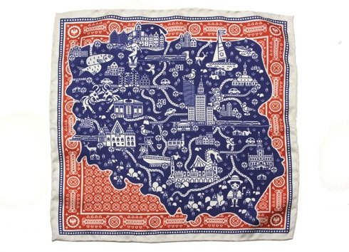 silk pocket square Poland !