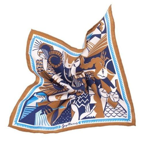silk pocket square zodiac Sagittarius