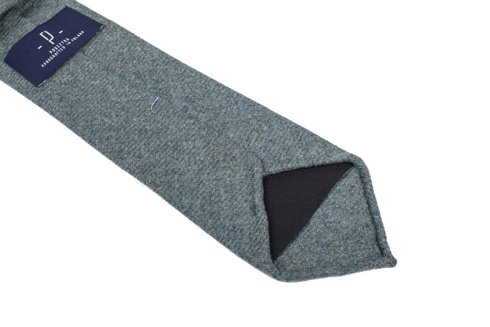 turquoise lambswool UNTIPPED TIE