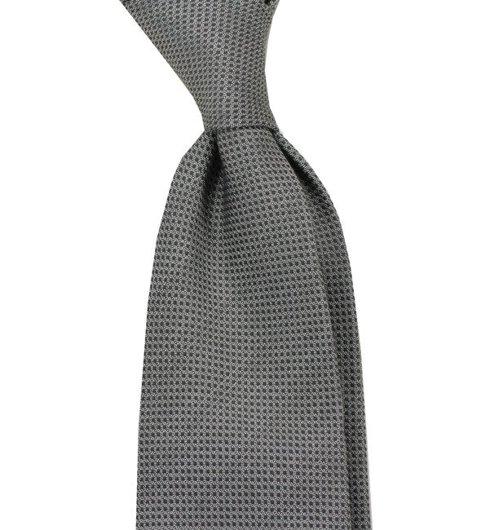 untipped cotton&silk tie