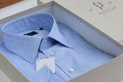 sky- blue Prince of Wales shirt