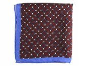 wool & silk kaleidoscope pocket square