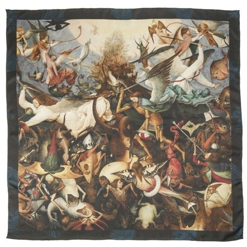 """Apaszka jedwabna 65 cm """"Upadek zbuntowanych aniołów"""" Pieter Bruegel Starszy"""