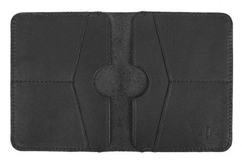 Czarny matowy portfel