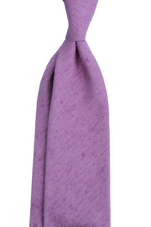 KRAWAT z szantungu pastelowy fiolet