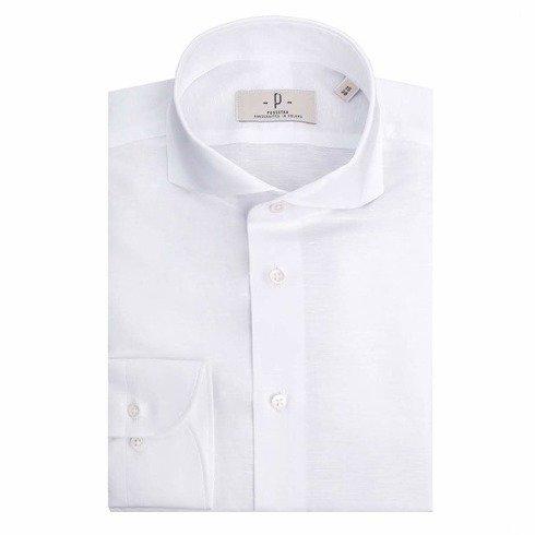 Koszula lniano- bawełniana biała