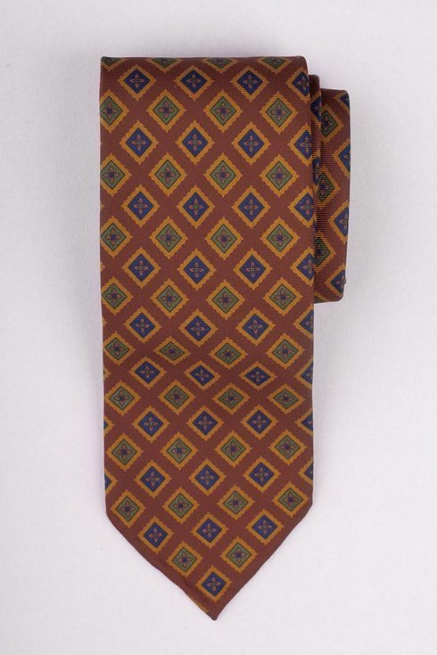 Krawat Ancient Madder Silk bez podszewki