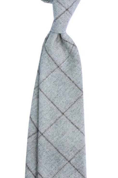 Krawat kaszmirowy w delikatną kratę