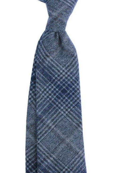 Krawat wełniany w kratę