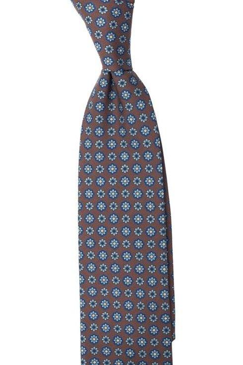 Krawat z jedwabiu Macclesfield w kwiatuszki