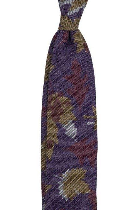 Krawat z wełny o splocie garza
