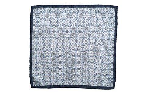 Poszetka bawełniano-jedwabna mozaika